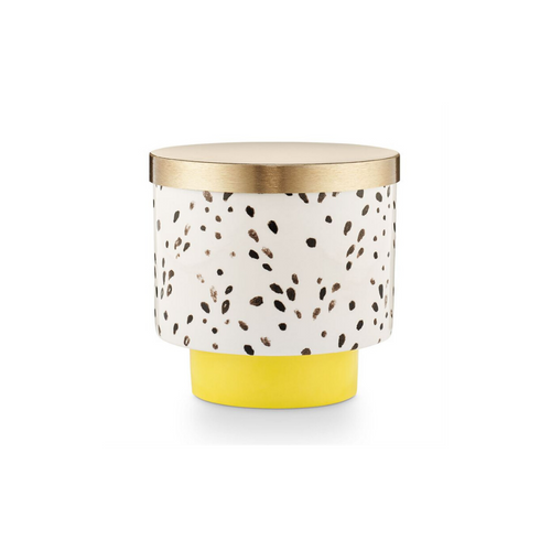 GOLDEN HONEYSUCKLE CERAMIC CANDLE