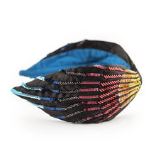 Load image into Gallery viewer, WANDA HEADBAND RAINBOW SEQUINS SIDE VIEW