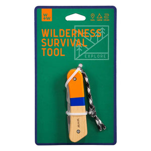WILDERNESS SURVIVAL TOOL WITH PACKAGING