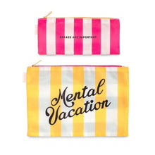 Load image into Gallery viewer, MENTAL VACATION DUO POUCH SET