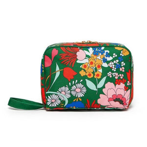 EMERALD BLOOM TOILETRY BAG