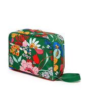 Load image into Gallery viewer, EMERALD BLOOM TOILETRY BAG BACK VIEW