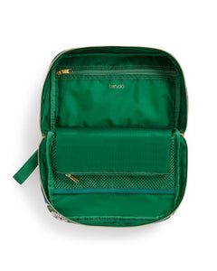 EMERALD BLOOM TOILETRY BAG interior