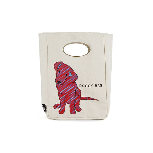 ORGANIC COTTN LUNCH BAG DOGGY front
