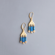 Load image into Gallery viewer, BLUE HEMATITE FRINGE EARRINGS