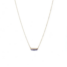 Load image into Gallery viewer, DECEMBER BIRTHSTONE NECKLACE TANZANITE