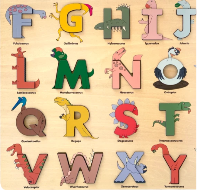 DINO ALPHABET LEGENDS PUZZLE