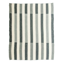 Load image into Gallery viewer, gray striped throw full view