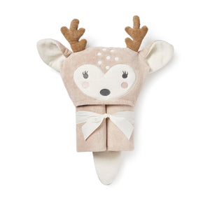 FAWN HOODED BATH WRAP