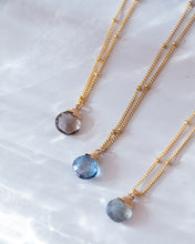 Load image into Gallery viewer, LABRADORITE GEMSTONE NECKLACE