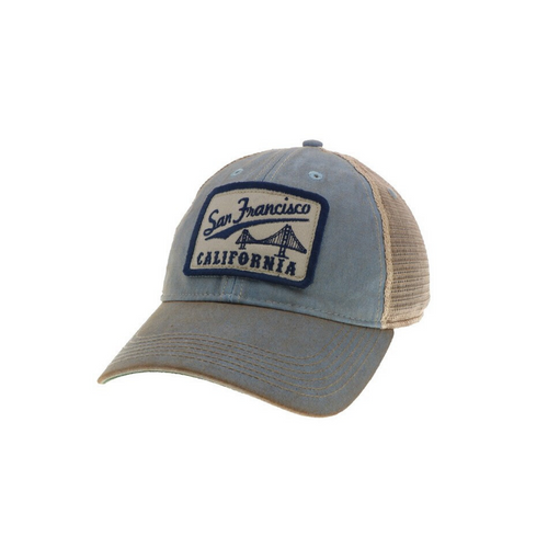 VINTAGE SF TRUCKER HAT | LIGHT BLUE