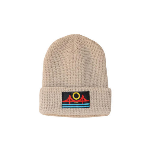 MINIMAL BRIDGE BEANIE | CREAM