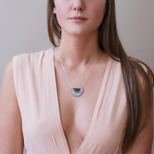 MODEL WEARING VIK NECKLACE
