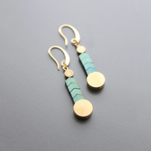 Load image into Gallery viewer, CHEVRON MOSAIC EARRINGS