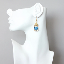 Load image into Gallery viewer, BLUE HEMATITE FRINGE EARRINGS MANNI