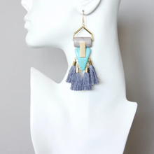 Load image into Gallery viewer, DECO MAGNESITE TASSEL EARRINGS
