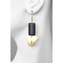 Load image into Gallery viewer, DOUBLE CRESCENT MAGNESITE EARRINGS