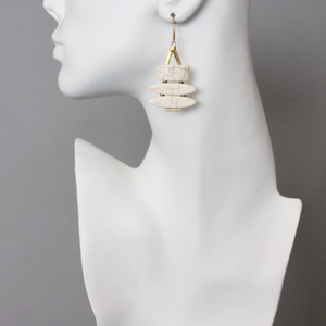 3-TIER MAGNESITE EARRINGS