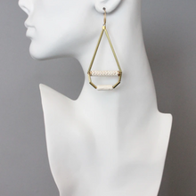 Load image into Gallery viewer, MAGNESITE TEAR DROP EARRINGS
