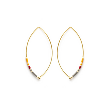 Load image into Gallery viewer, MARQUISE BEAD HOOPS SAFFRON