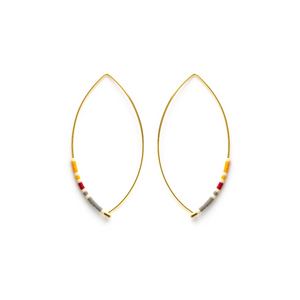 MARQUISE BEAD HOOPS SAFFRON