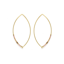 Load image into Gallery viewer, MARQUISE BEAD HOOPS CHAMPAGNE