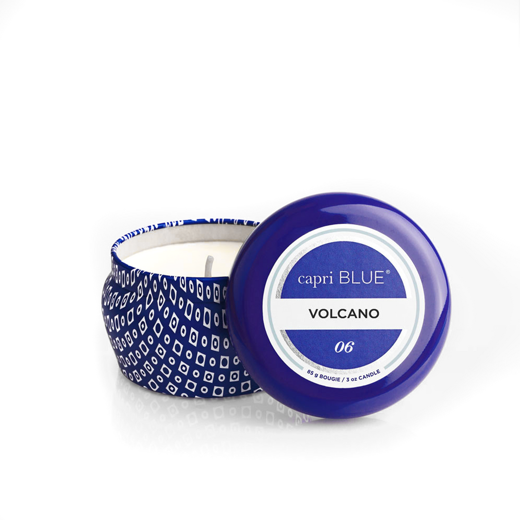 VOLCANO CANDLE TIN
