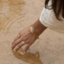 Load image into Gallery viewer, COMING SOON | GOLD WAVE BANGLES SET