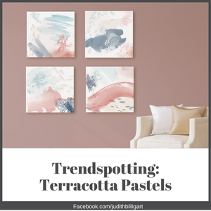 Watercolor Wall Art: Terracotta and soft neutral pastels