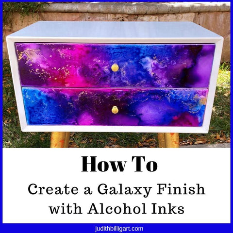 How to create a Galaxy Finish with Alcohol Inks