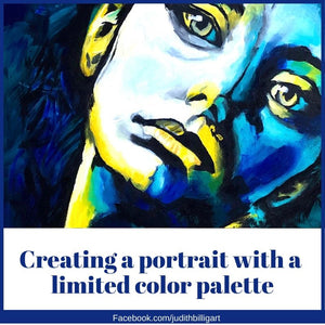 Painting a portrait with a limited color palette