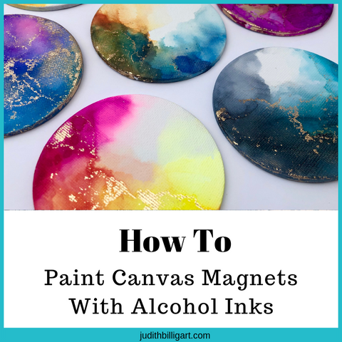 How to paint Canvas Magnets with Alcohol Inks