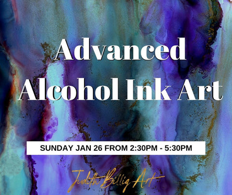 "Class ""Advanced Alcohol Ink Art"" January 26, 2020"