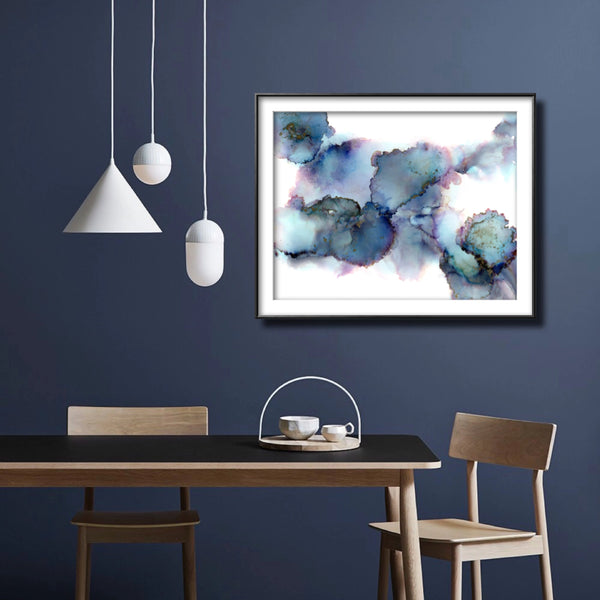 Celestial - Giclee Print in soft blues