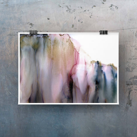 Ethereal Two - Giclee Print in soft pink and gray