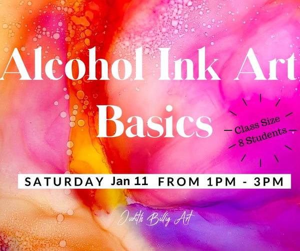 "Class ""Alcohol Ink Art - Basics"" Nov. 2019"