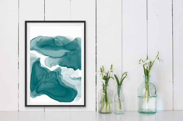 Teal 2 - teal green alcohol ink
