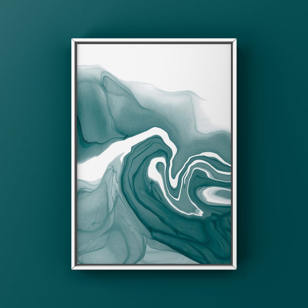 Teal 1 - teal green alcohol ink