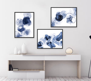 Set of 3 Art Prints - Bleu