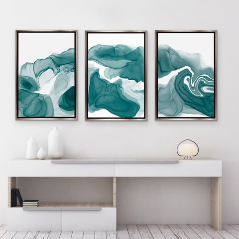 Set of 3 Art Prints - Teal