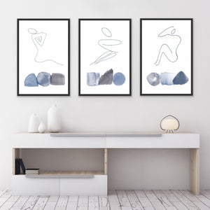 Set of 3 Art Prints - Female Elements