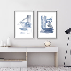 Set of 2 Art Prints - Indigo Mix