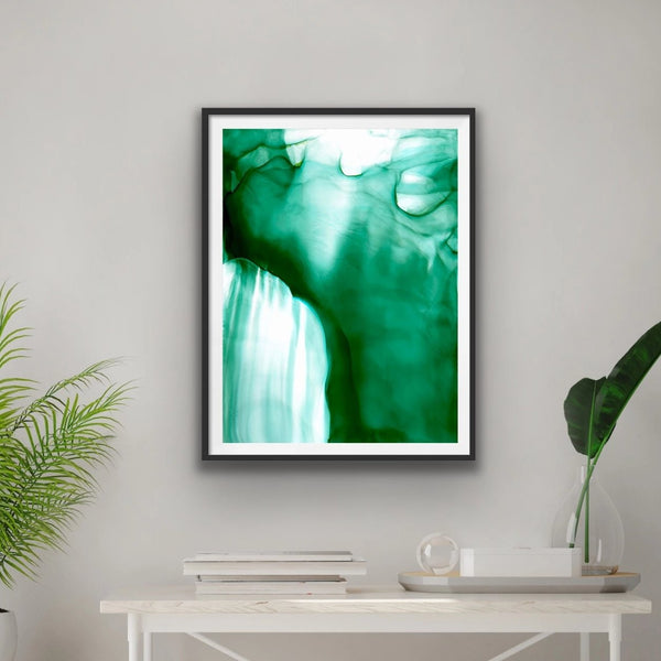 Emerald Veil - Giclee Print in emerald green