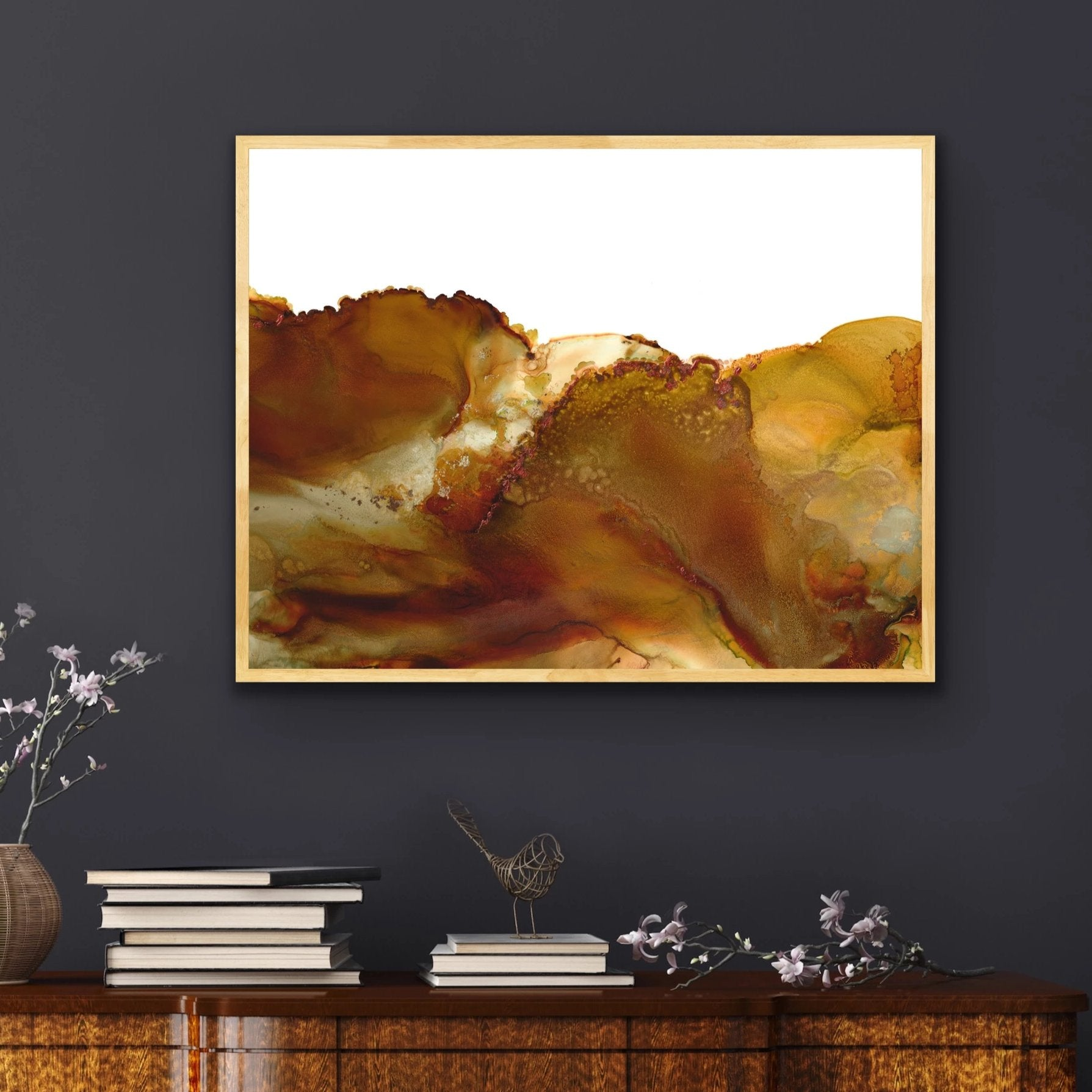 Sediments - Giclee Print in caramel, brown, rust