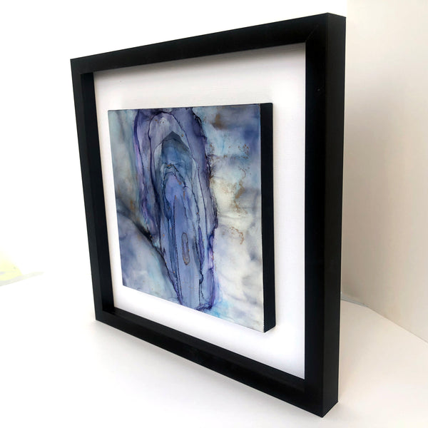 Sensuality 2  - original alcohol ink painting, framed, free US shipping