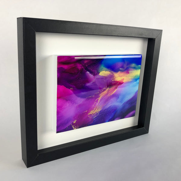 Silk Veil 1 - original painting with resin finish