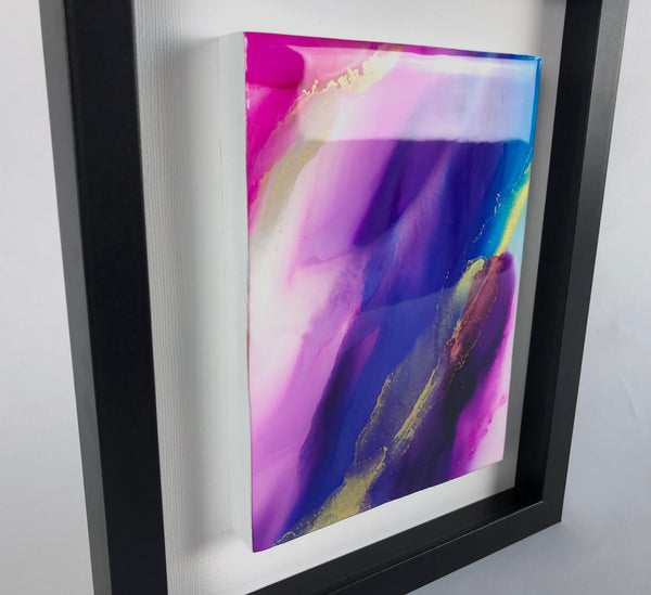 Silk Veil 2 - original painting with resin finish