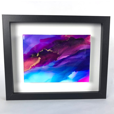 Silk Veil 4 - original painting with resin finish
