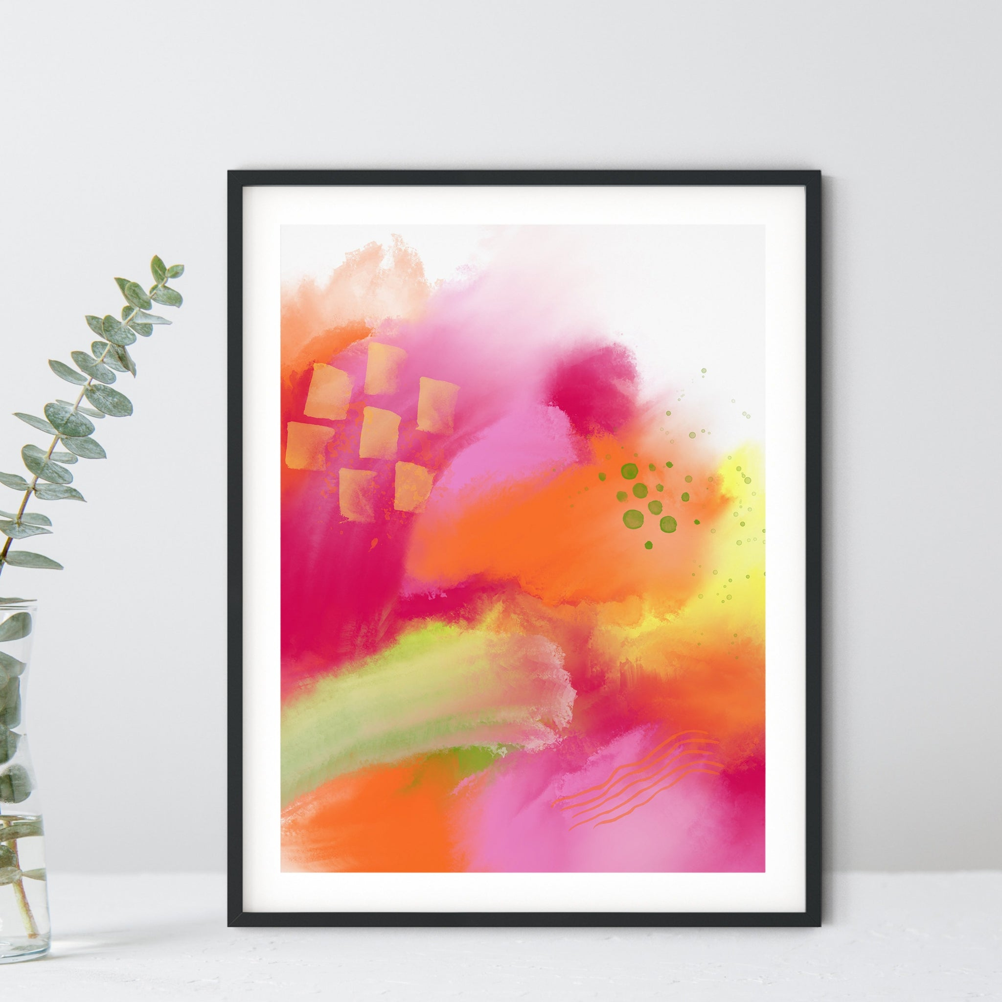Summer Love 2 - print in orange, magenta, yellow, green