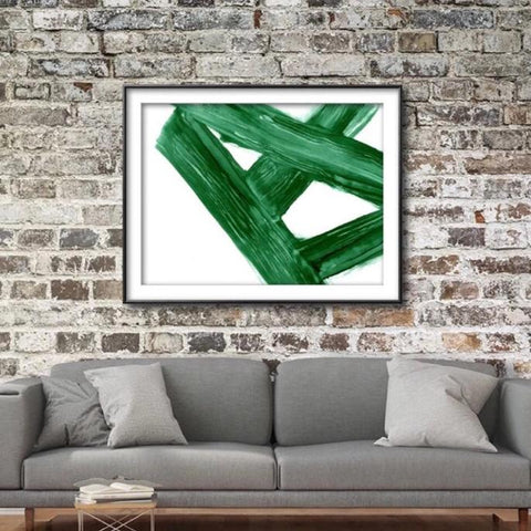 Emerald Crossroads - Giclee Print in emerald green